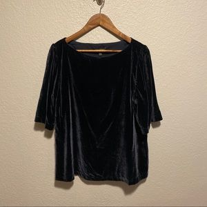 NWT Banana Republic Velvet Blouse